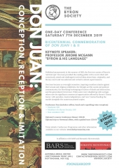The Byron Society, One-day Conference