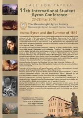 Call for papers: 11th International Student Byron Conference, Messolonghi, Greece