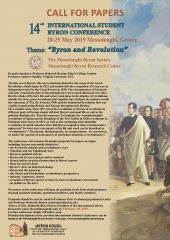 Call for Papers: 14th International Student Byron Conference